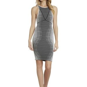 Bcbgeneration Black and white bodycon dress, XS/S
